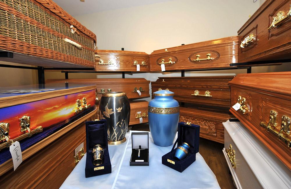 Coffins & Urns P Townley Funeral Directors