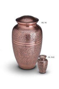 Urn pink with black ingraved design